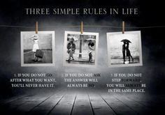 monday motivation, life rules, life lessons, three simpl, inspir, simply said, simpl rule, quot, spot