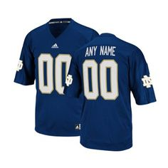 3f8ef5530e2 adidas Notre Dame Fighting Irish Custom Replica Football Jersey - Navy Blue