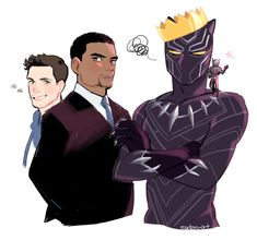 "joe-lasko: ""sodam-art: "" I think these two can be a good duo. "" SCOTT: ""You've met the Science Bros. Now meet… BEAST BUDS!"" T'CHALLA: ""I told you I refuse to be called that!"" SCOTT: ""Ok, how about FIERCE FRIENDS"" T'CHALLA: ""No."" SCOTT: ""CRITTER..."