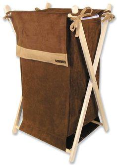 Trend Lab Hamper Set in Brown and Caramel Suede - 21538 - Hampers - Bed & Bath
