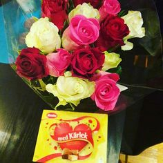 Chocolate and roses from babe.