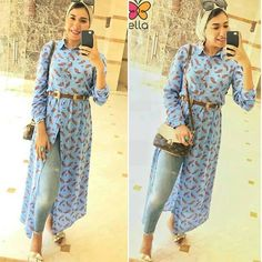 Summer break is just around the corner and this is the time of the year to bright up your wardrobe with new fresh colors; of course the bright colors of the Modest Outfits, Modest Fashion, Hijab Fashion, Casual Outfits, Fashion Dresses, Women's Fashion, Head Turban, Modest Apparel, Mode Hijab