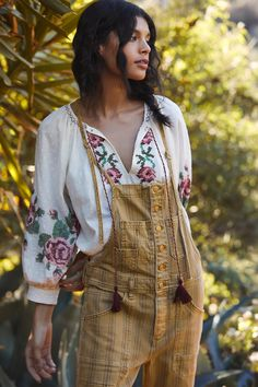 Bethan Embroidered Blouse | Anthropologie