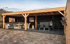 closed in at back like this Cozy Backyard, Backyard Patio Designs, Backyard Sheds, Backyard Covered Patios, Outdoor Pergola, Outdoor Rooms, Gazebo, Insulated Garden Room, Garden Cabins