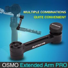 for DJI Osmo Plus Stabilizer Gimbal Extender Arm Joint Straight Extension