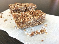 #Raw #Peanut Butter and #Coconut Squares Recipe #Healthy