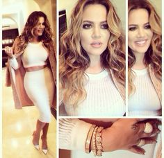 Khole Kardashian white on white