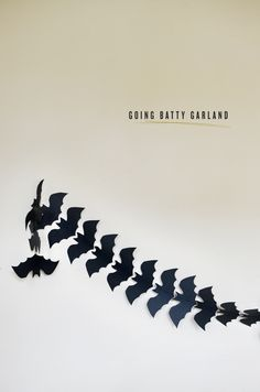 diy: going batty garland (bat garland)
