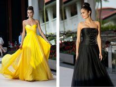 Yellow & Black Wedding Dresses