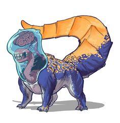 Creature Feature, Creature Design, Dnd Art, Dark Fantasy, Dungeons And Dragons, Character Art, Twitter, Concept Art, Dinosaur Stuffed Animal