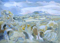 Landscape of the Malvern Distance (1943) by Paul Nash