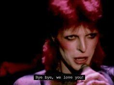 """"""" Last words David Bowie said publicly as Ziggy Stardust. Glam Rock, David Bowie Birthday, Ziggy Played Guitar, David Bowie Ziggy, New York City, The Thin White Duke, Pretty Star, Ziggy Stardust, Thing 1"""