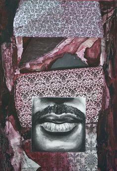 """Totem (Red)  mixed media  19"""" x 13""""  JBarberStudio - Weekly Art - Week2"""