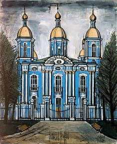 Bernard Buffet - Saint-Petersbourg : Eglise St Nicolas des Marins - 1992, oil on canvas - 162 x 130 cm