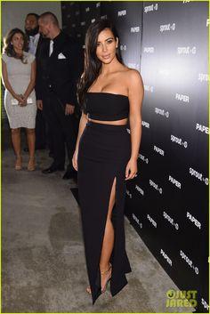 7d7a7a4f4c20c Kim Kardashian Wears Sexy Skin-Revealing Dress for 'Paper' Magazine Party  in Miami