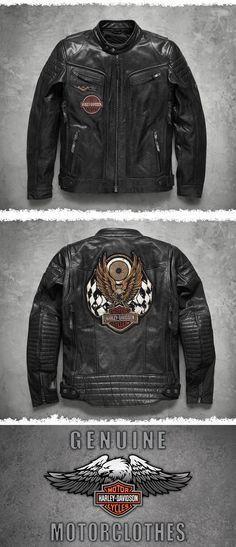 Harley Davidson Lederjacke, Herrenmode. Kleidung gebraucht