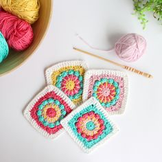 Merry-Go-Round Squares - Free Crochet Pattern