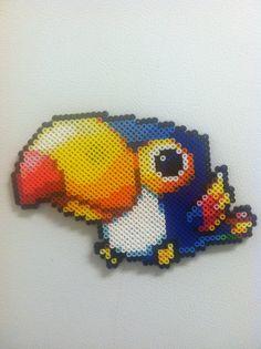 Maplestory Toucan - Perler Art by Brentimous.deviantart.com on @deviantART