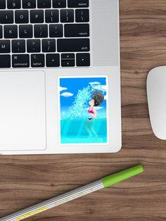 'Beach Splash' Sticker by konapple Iphone Wallet, Sell Your Art, Sticker Design, Floor Pillows, Stickers, Beach, Shop, The Beach, Sticker