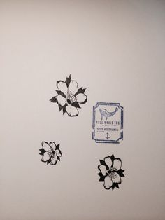 14033429a 3 Flowers Tattoo Design From Blue Whale Ink Design by _park_tae_ Work In  Korea, Seoul