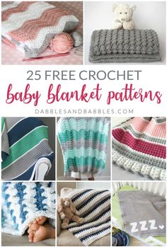 25 Baby Blanket Crochet Patterns Dabbles 038 Babbles If you re looking for quick and easy crochet blanket patterns this list has 25 different ones you can choose from This list will teach you Double Crochet Baby Blanket, Crochet Baby Blanket Free Pattern, Easy Baby Blanket, Crochet For Beginners Blanket, Easy Crochet Patterns, Knitting Patterns, Afghan Patterns, Knitting Ideas, Crochet Bebe