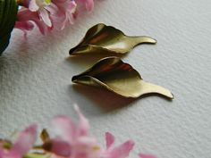 Brass Calla Lily Pendant  Large Antique Brass TRINITY BRASS 14x34mm (2pcs)
