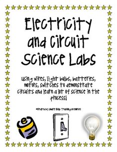 A Collection of Science Labs for Circuits and Electricity - Smart Chick - TeachersPayTeachers.com