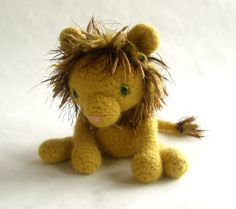 Wool Lion Plush Toy King of the Jungle. $48.00, via Etsy.