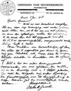 Brief van Aletta Jacobs