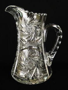 Fostoria Crystal Antiques | Antique 19C. American Brilliant Cut Glass Pinwheel Design Crystal ...