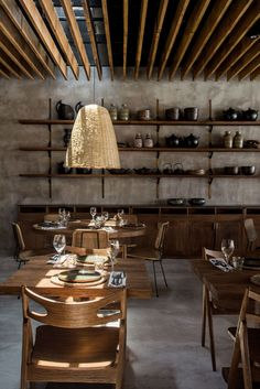 hotel restaurant Exploring Casa Cook Kos: a new concept hotel from Thomas Cook Decoration Restaurant, Deco Restaurant, Restaurant Interior Design, Cafe Design, Rustic Design, House Design, Hotel Grecia, Casa Cook Hotel, Gravity Home