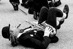 { the saxophonist }