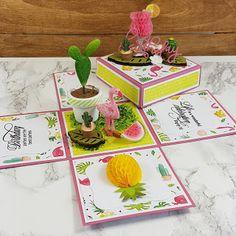 HOBBYKUNST Fancy Pants, Copic, Project Life, I Card, Flamingo, Coasters, Tableware, Summer, Flamingo Bird