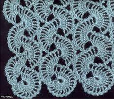 Schema di un punta molto carino per strisce che potrebbero essere usati sia come bordi che per comporre un capo come sciale, maglietta, ...   f