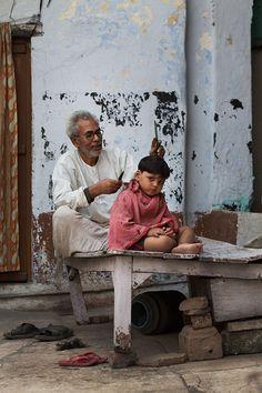 On the Street…The Haircut, Varanasi