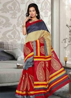 We have wide range of all new and fresh Bhagalpuri Silk Sarees Collection, attractive and beautified with various pattern like printed, art work and fancy work. Have a look ethnic and traditional with all these amazing bhagalpuri silk sarees collection starting from Rs. 999.99.