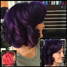 Instagram media behindthechair_com - * Purple Glam ... by @ddburgos