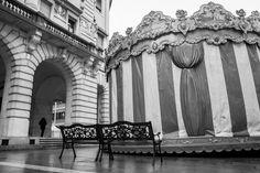 Carousel in a rainy day #UdineBlack&WhiteProject