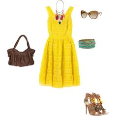 I <3 yellow! Could not walk in those shoes to save my life though!