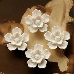 Polymer Clay Perlen - 20pcs bunte Rosen-Blumen-Harz Cabochon - 20mm - ein Designerstück von chengxun bei DaWanda
