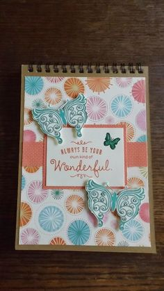 #NotePad Using #CTMH Products. I love butterflies!