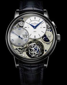 Black and blue Jaeger-LeCoultre men's watch