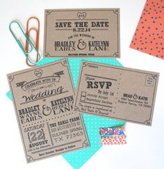 Hey, I found this really awesome Etsy listing at https://www.etsy.com/listing/180883624/kraft-paper-wedding-invitation-set-with