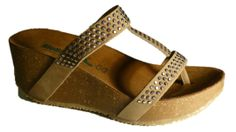 Italian flip flops with wedge and strass made in Italy by Bionatura spring 2014