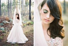 blush wedding dress photographed by Feather and Stone Photography http://featherandstone.com.au/