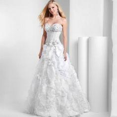 Princess beaded sexy wedding dress