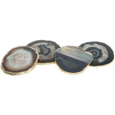 Times Two Design Agate Chocolate Coaster Set of 4 @LaylaGrayce