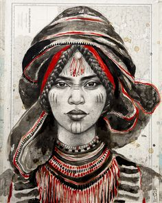 Browse all products in the Tirages papier d'art - Paper Art Prints category from Stephanie Ledoux. African American Art, African Art, Enki Bilal Bd, Berber Tattoo, L'art Du Portrait, Ledoux, Arts Ed, Tribal Art, Black Art