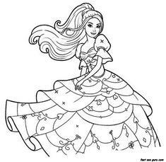 free print out barbie beautiful dress coloring pages printable dress up barbie coloring game for girls - Free Coloring Pages For Girls