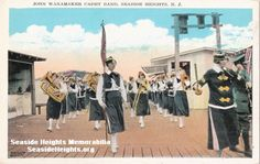 The John Wanamaker Cadet Band playing on the Boardwalk in Seaside Heights NJ 1920s  LIKE–>http://www.facebook.com/seasideheightsorg   WEB–>http://seasideheights.org/   Email this card to a friend!